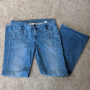 Lucky Brand Dungarees Concert Wide Leg Jeans
